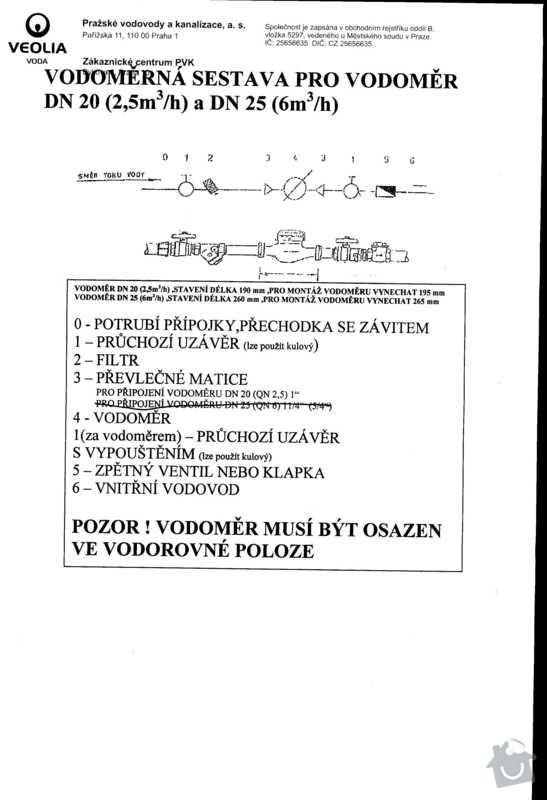 Vymena vodomerne sestavy pro vodomer DN 20: Voda_0001