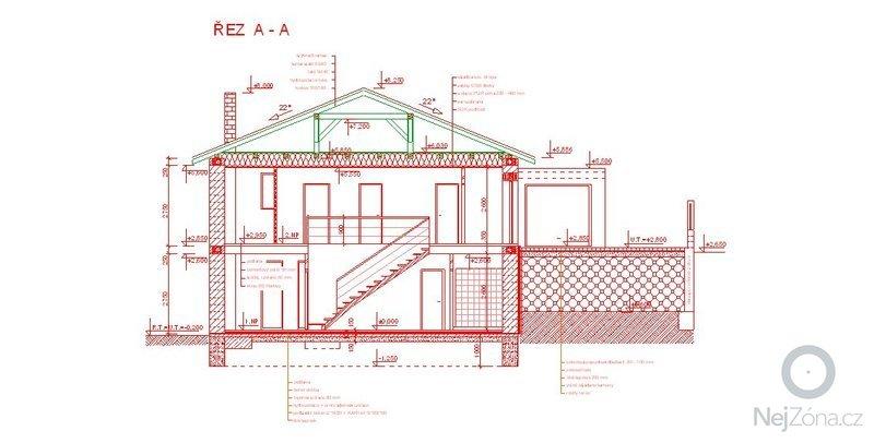 Provedení zakladové desky domu: rez
