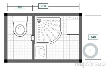 Rekonstrukce koupelny a wc: po-rekonstrukci-situace_byt_CL