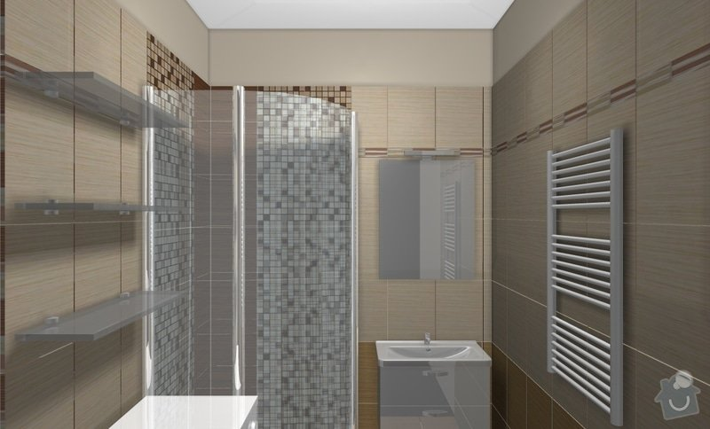 Rekonstrukci WC a koupelny: B4