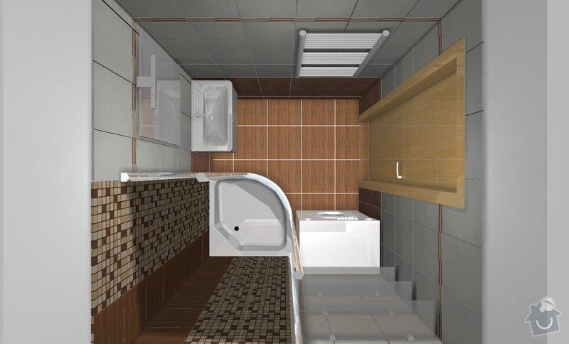 Rekonstrukci WC a koupelny: B1