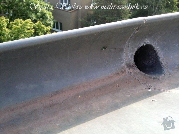 Oprava střechy a děravého žlabu pomocí horolezecké techniky: Fotografie071