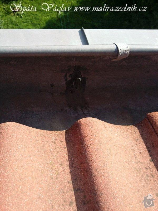 Oprava střechy a děravého žlabu pomocí horolezecké techniky: Fotografie075