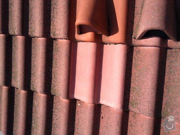 Oprava střechy a děravého žlabu pomocí horolezecké techniky: Fotografie083