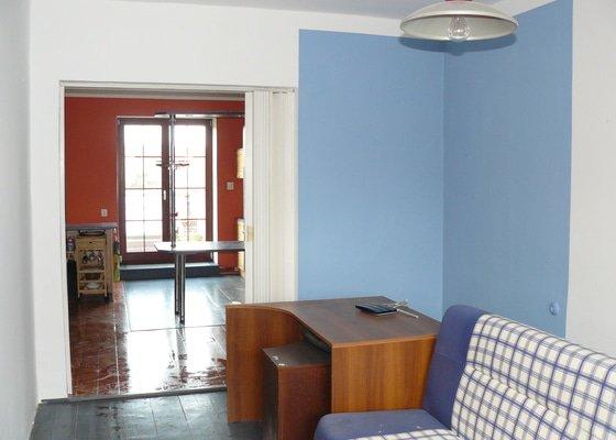 Vymalování obývacího pokoje a kuchyně