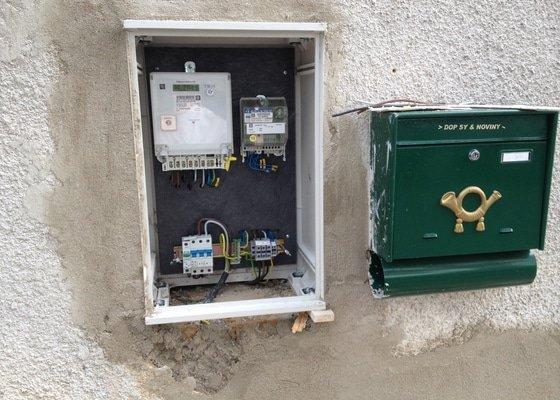 Výměna domovního elektroměrového rozvaděče