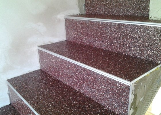 Kamenný koberec - pokládka