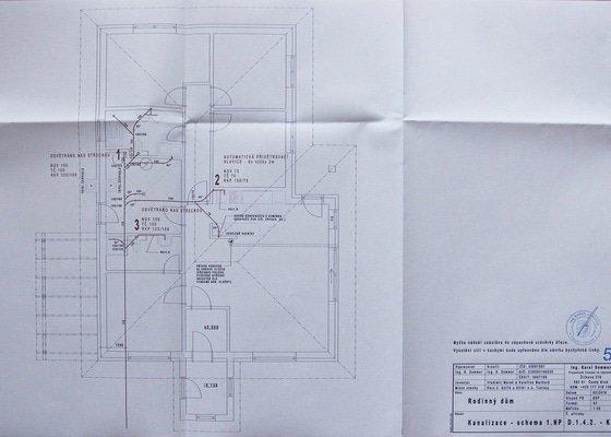 Základová deska, voda a kanalizace
