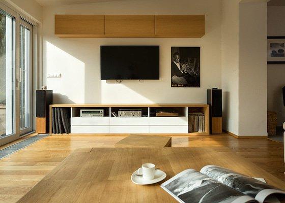 Minimalistický obývací pokoj