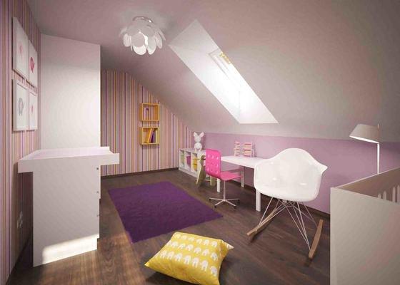 Návrh dětského pokoje a pokoje pro hosty