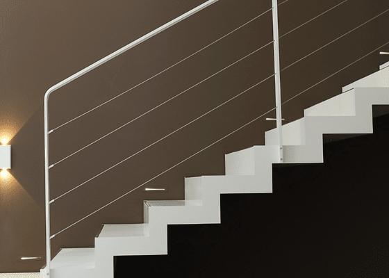 Ocelové, lankové zábradlí
