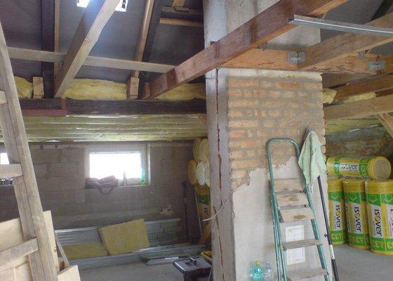 Zatepleni střechy,sadrokartonové práce (střechy,příčky, předstěny),ytongové příčky,elektrikářské práce