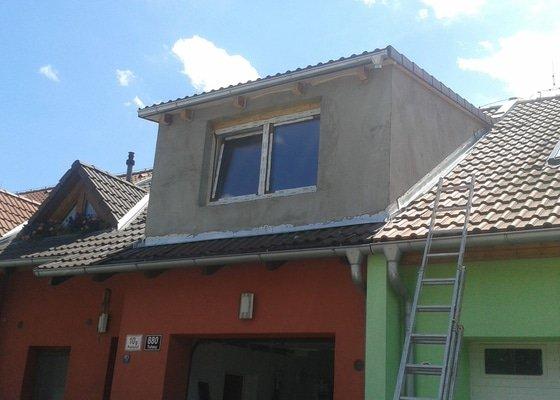 Dokončení fasády vikyře RD Brno Tuřany