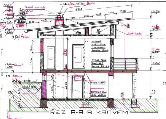 Oprava - výměna střechy chaty