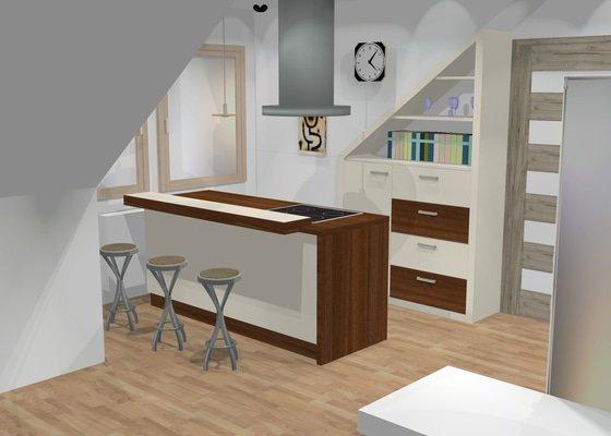 Podkrovní kuchyňka