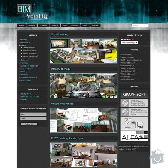 Tvorba webových stránek: bimprojekty
