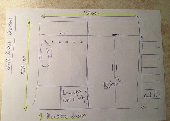 Zhotovení šatní vestěvěné skříně v ložnici a skříně v šatně