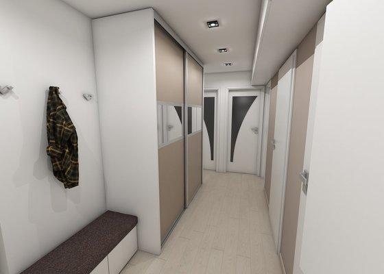 Návrh koupelny, komory a chodby
