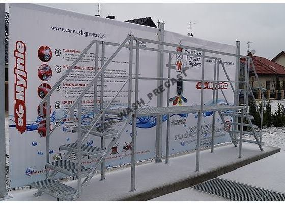 Výroba ocelové konstrukce na automyčku
