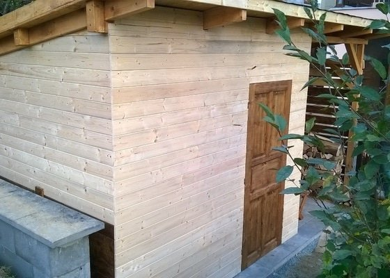 Výstavba zahradního domku