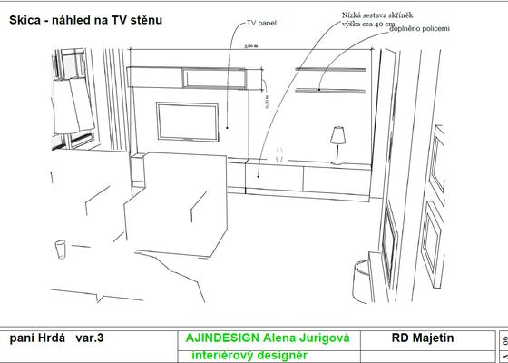 Návrh obývacího pokoje