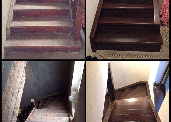Renovaci nebo obklad dřevěných schodu v RD