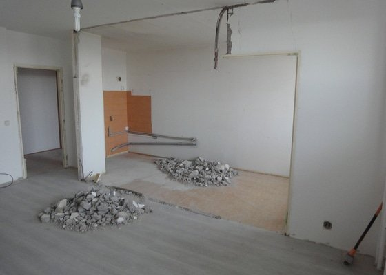 Rekonstrukce bytu 3+1 v Praze (bez rekonstrukce jádra)