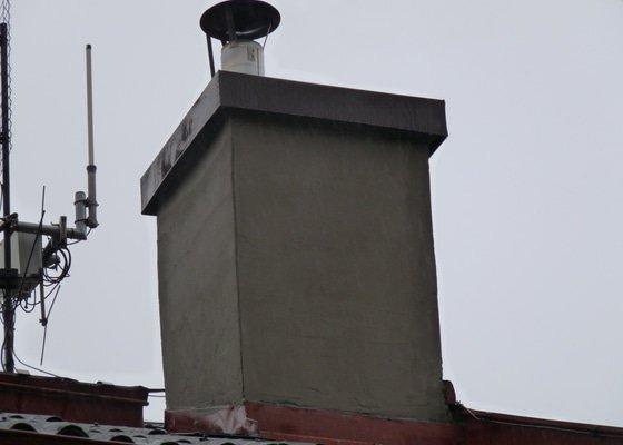 Frézování a vložkování komína + rekunstrukce hlavy komína