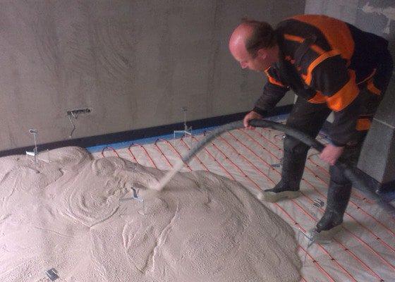 Litá anhydritová podlaha ANHYMENT AE20, novostavba.