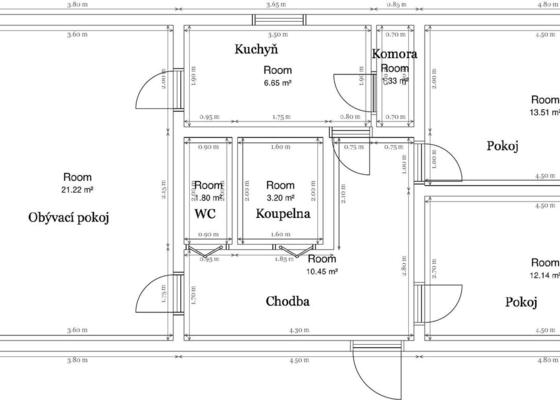 Kompletná rekonštrukcia panelákového bytu 69m2