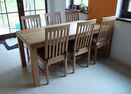 Výroba jídelního stolu - masiv dub