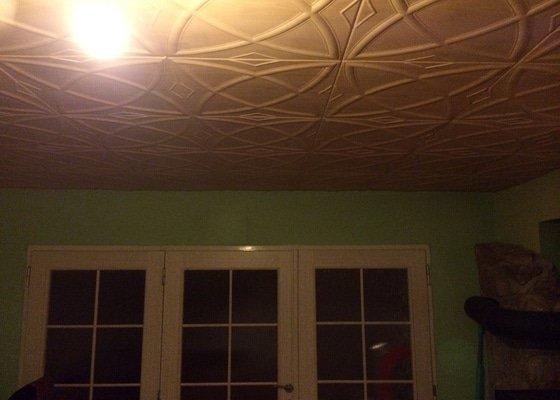 Sádrokartonový podhled, cca 37 m2