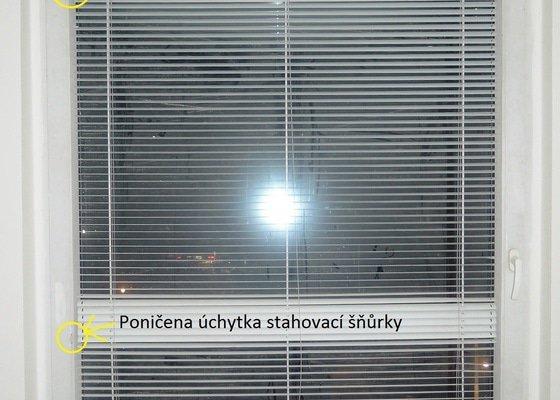 Seřízení plastových oken (4 + balkon) + oprava žaluzií