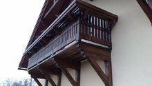 Dřevěný balkon do rodinného domu