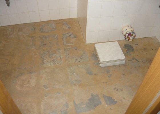 Oprava dlažby v koupelně
