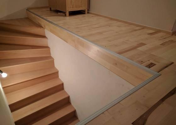 Pokládka dřevěných podlah vč. lištování