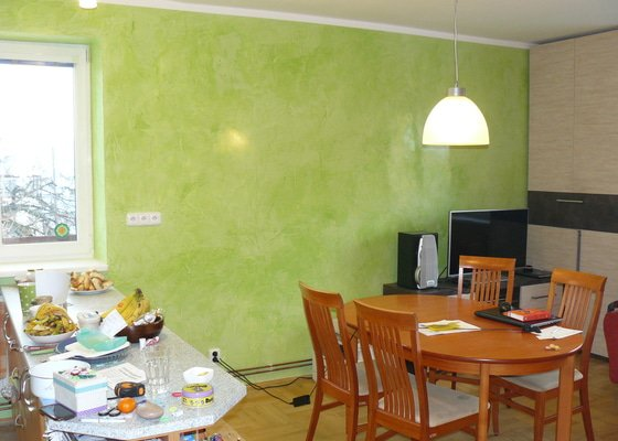 Malování v rodinném domě