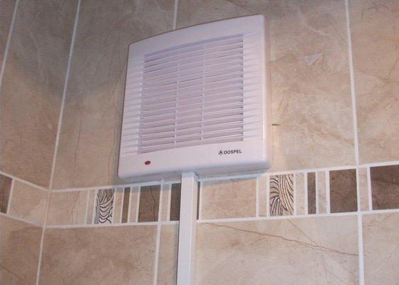 Oprava nepěkné elektroinstalace, světlo nad dveře, nový větrák do koupelny v paneláku