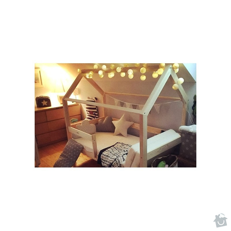 Dětská postel domeček: detska-postel-domecek-tery-s-bocnicemi