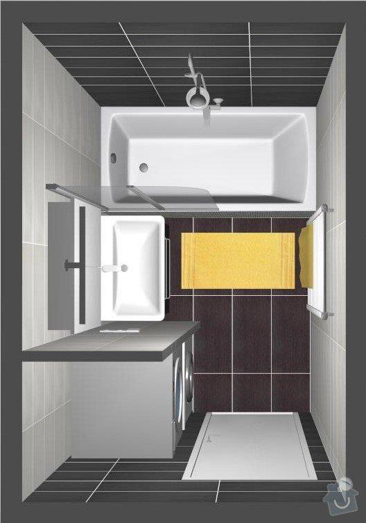 Rekonstrukce bytu 3+1 : Dispozice koupelny
