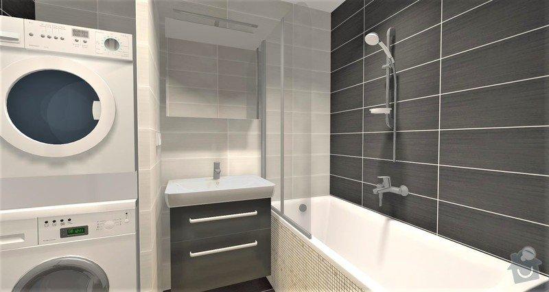 Rekonstrukce bytu 3+1 : Návrh koupelny