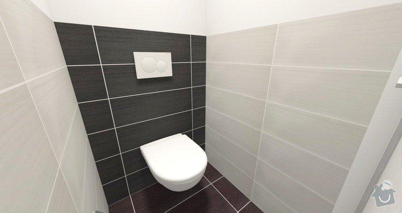 Rekonstrukce bytu 3+1 : Návrh WC