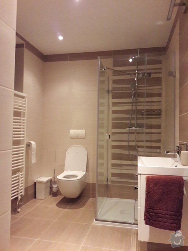 Výměna plovoucí podlahy a renovace koupelny, malování: 20170128_192612
