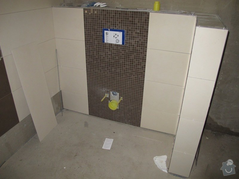 Interiér RD na klíč: obklad koupel.