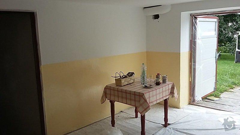 Malířské práce : Finální omyvatelný nátěr