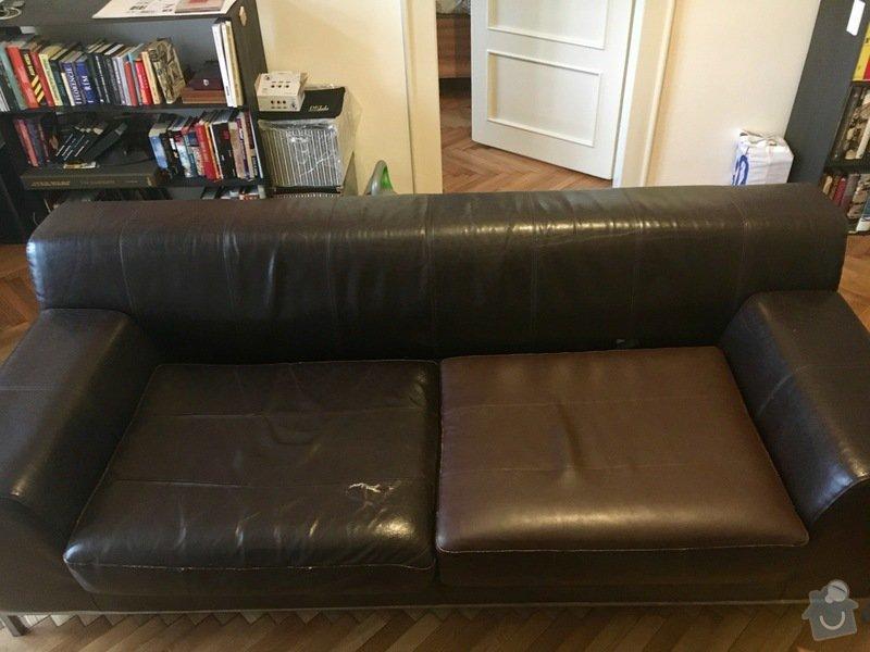Oprava čalounění kožené sedačky: FullSizeRender2