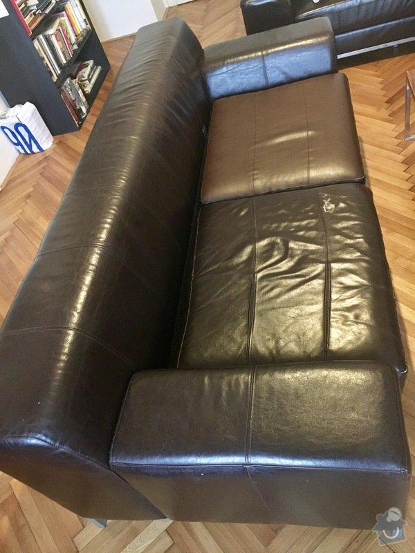 Oprava čalounění kožené sedačky: FullSizeRender