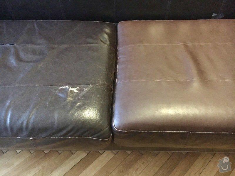 Oprava čalounění kožené sedačky: FullSizeRender1
