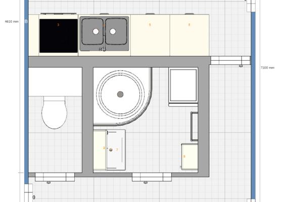 Rekonstrukce jádra a kuchyně v panelovém domě