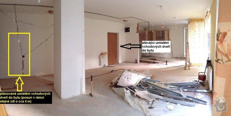 Výřez otvoru do nosné zdi: byt_otvor